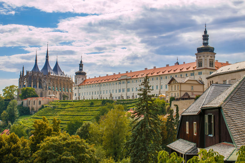 Kutna Hora. City Kutna Hora with St. Barbora cathedral in Czech republic royalty free stock photos