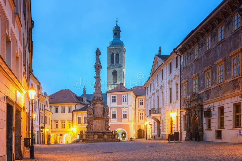 Kutna Hora, Czech Republic. View of olld Kutna Hora at Dawn stock images