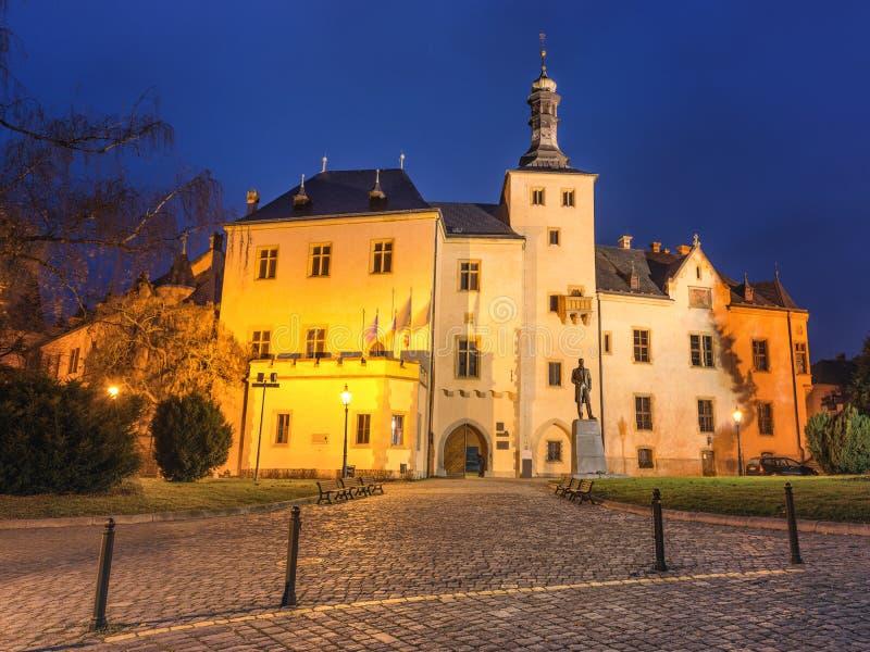 Kutna Hora, Czech Republic. View of olld Kutna Hora at Dawn stock photo