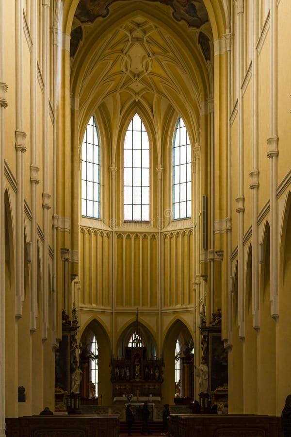 Kutna Hora/République Tchèque - novembre, 3 2018 : Cathédrale de l'acceptation de Vierge Marie et St image stock