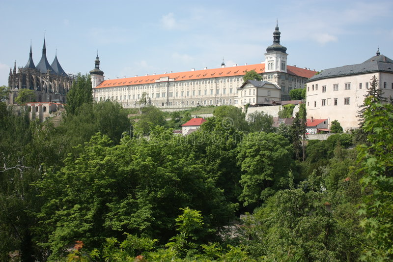 Kutna Hora scenery. Seen from Italian court view royalty free stock images