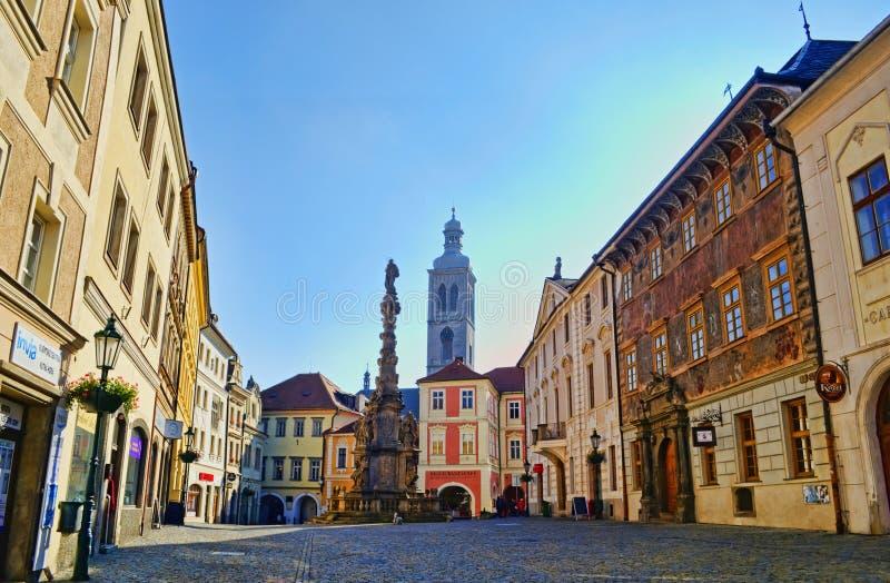 Kutna Hora, Sedlec. The central square in Kutna Hora, Sedlec, Czech Republic stock image