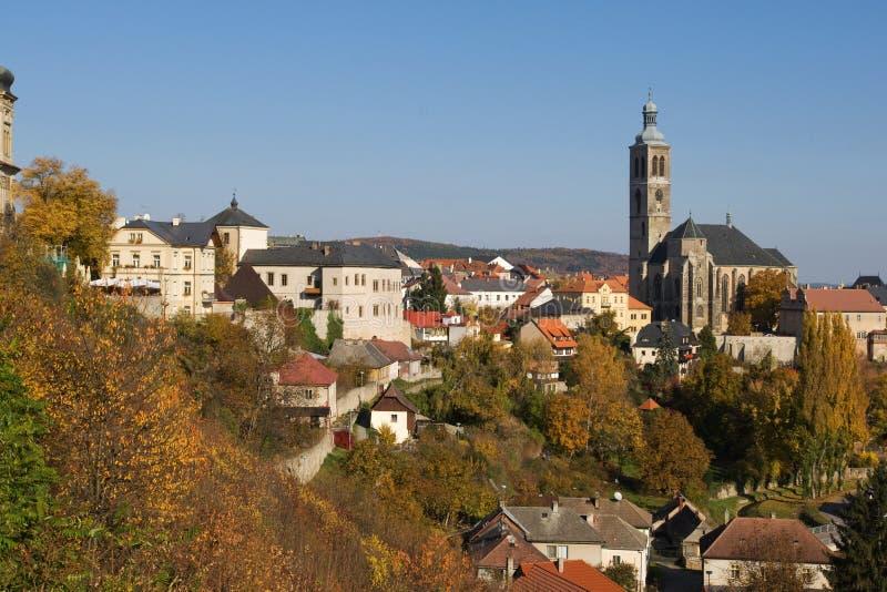 Kutna Hora view. Kutna Hora - Bohemian miners town in Czech Republic stock photo