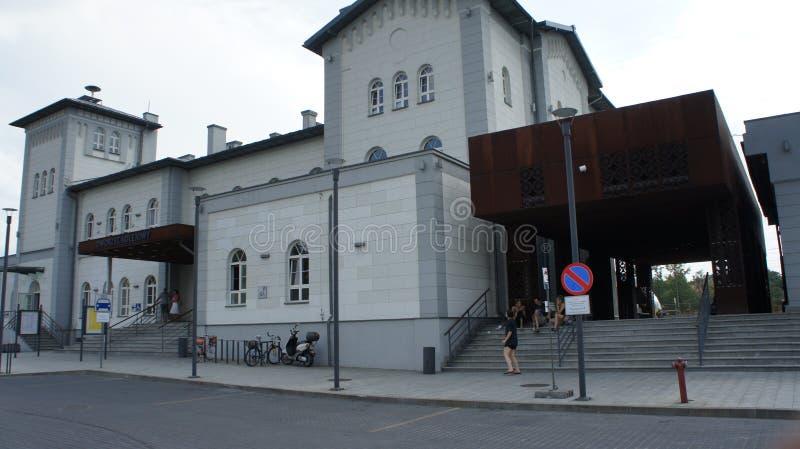 Kutno Polen drevstation arkivfoto