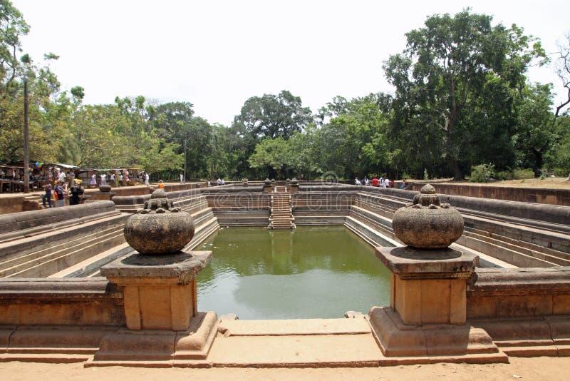 Kuttam Pokuna (双池塘)在阿努拉德普勒 库存照片