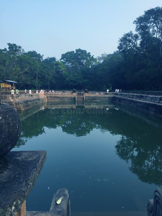Kuttampokuna the old pond in anuradhapura royalty free stock photography