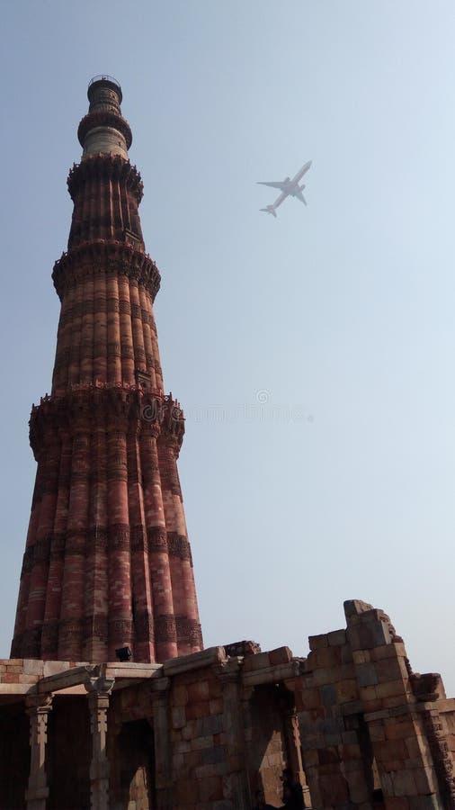 Kutumb minar Delhi Indien lizenzfreies stockfoto