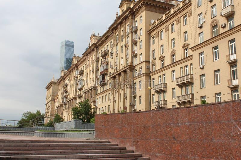 Kutuzovsky-Aussicht Apartmenthaus 32 stockbild