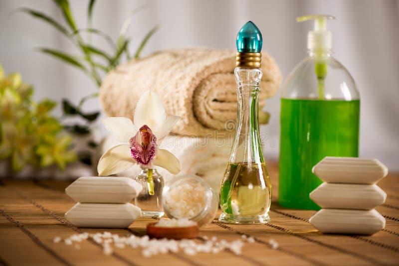 Kuuroord en Aromatherapie stock afbeelding