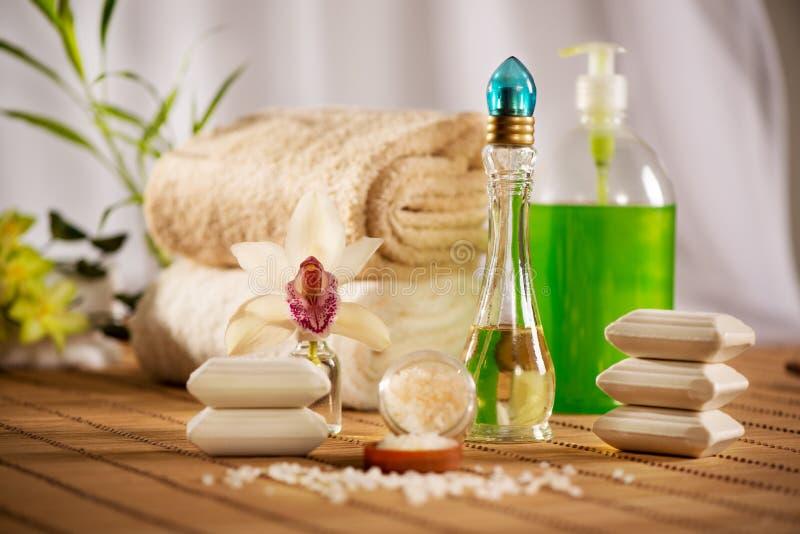 Kuuroord en Aromatherapie stock afbeeldingen