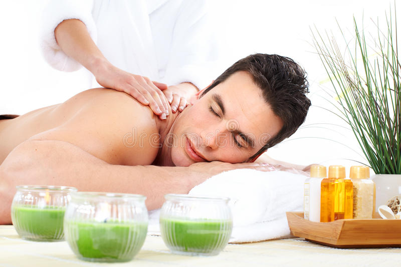 kuuroord massage stock afbeelding