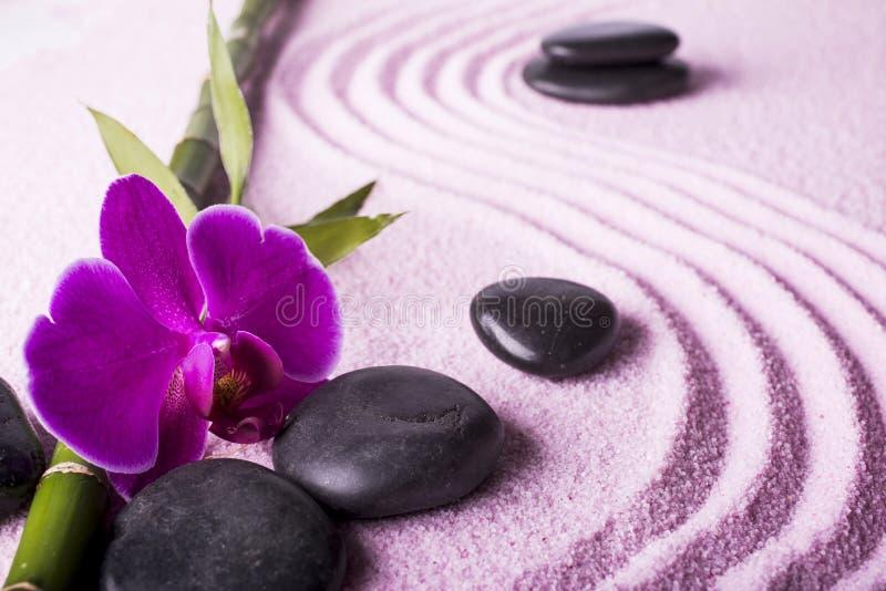Kuuroord met Zen-tuin stock afbeelding
