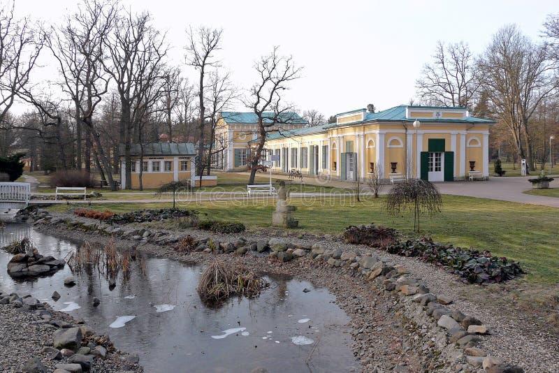 Kuuroordpark van kuuroord Frantiskovy Lazne in de Tsjechische Republiek royalty-vrije stock fotografie