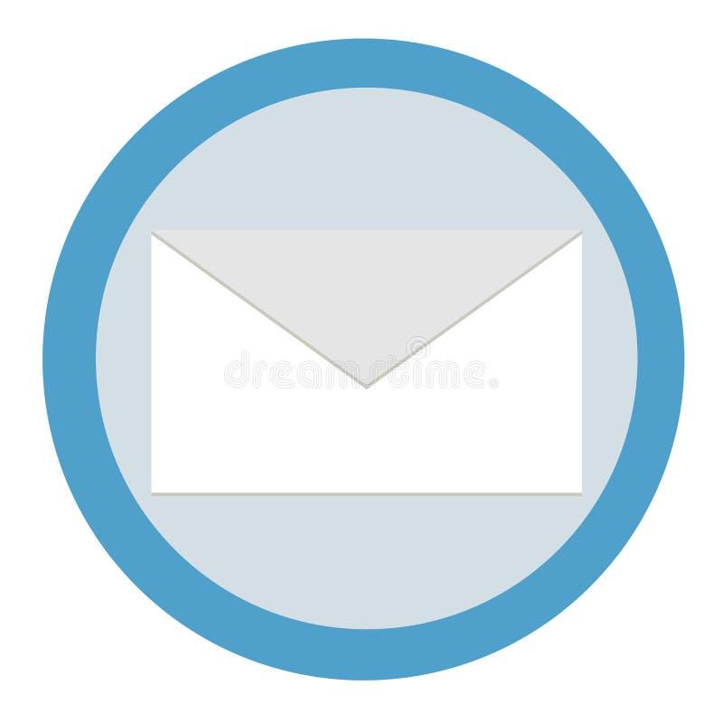 Kuvert-bokstav symbol Vektordiagram i plan stil royaltyfri illustrationer