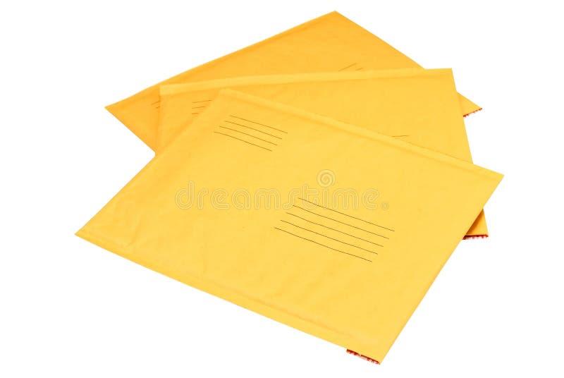kuvert isolerade manila arkivfoton