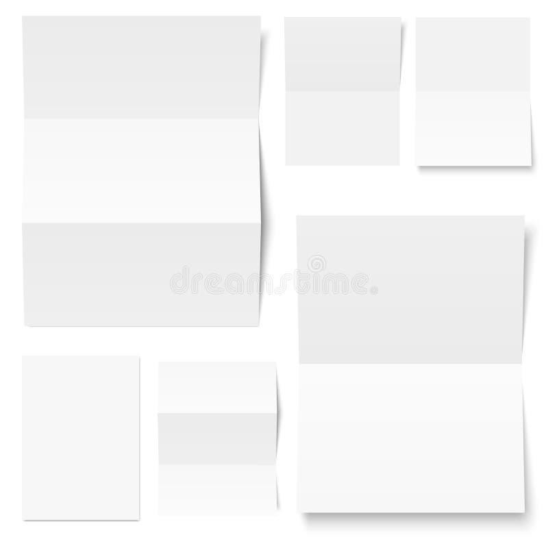 Kuvert och handstilpapper vektor illustrationer