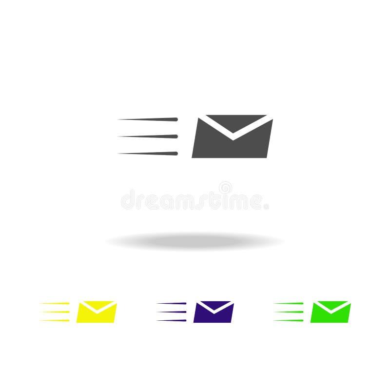 kuvert och linjer mångfärgade symboler Tecken och symbolsamlingssymbol för websites, rengöringsdukdesign, mobil app på vit bakgru vektor illustrationer