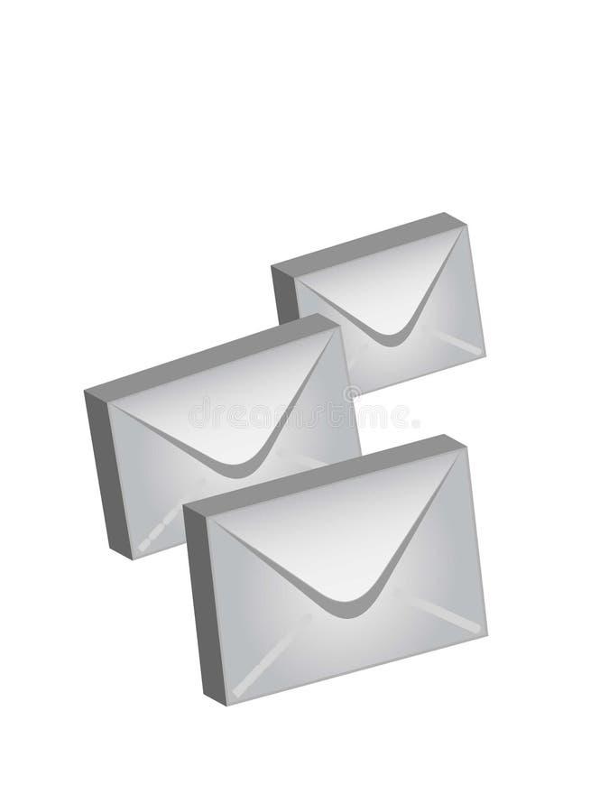kuvertstolpevektor royaltyfri bild