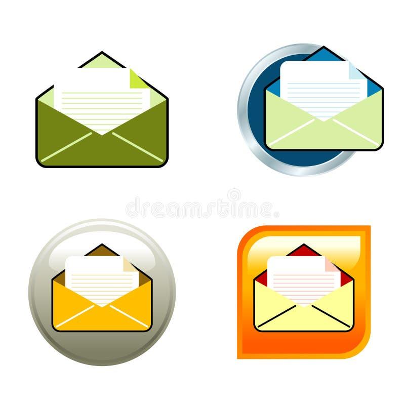 kuvertsymboler vektor illustrationer