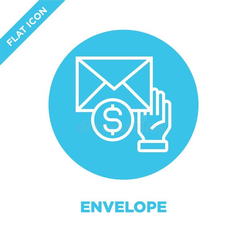 kuvertsymbolsvektor från korruptionbeståndsdelsamling Tunn linje illustration för vektor för kuvertöversiktssymbol r royaltyfri illustrationer