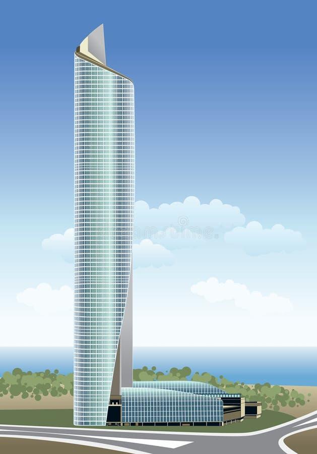 Kuwait-Al Hamra Kontrollturm stock abbildung