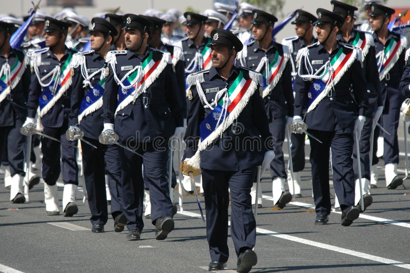 Kuwait Army Show. Army Show goes in Kuwait in feb 2007 for his Husein's the emir (President of kuwait royalty free stock photo