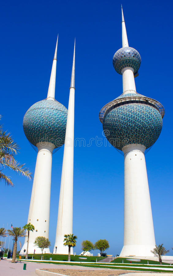 Kuwait city water towers stock photos