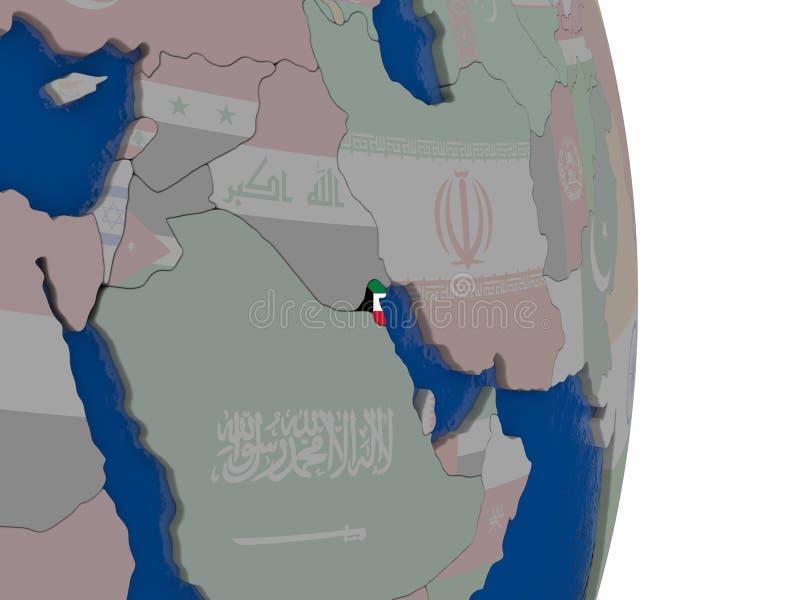 Kuwait con su bandera libre illustration
