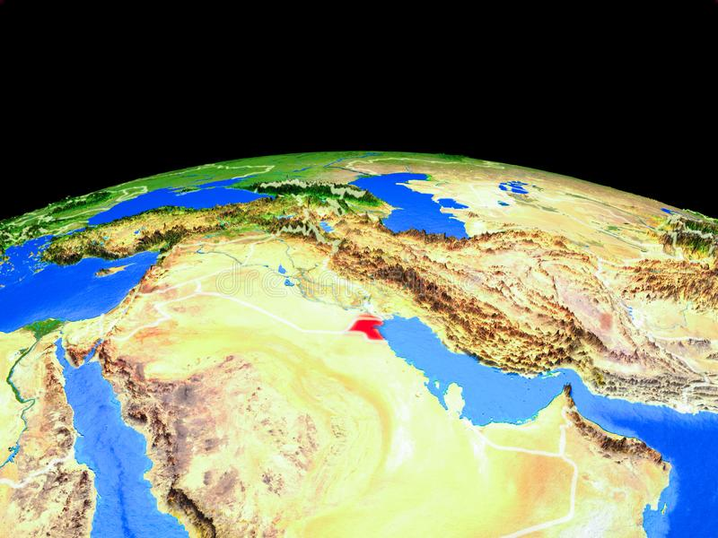 Kuwait del espacio en la tierra libre illustration