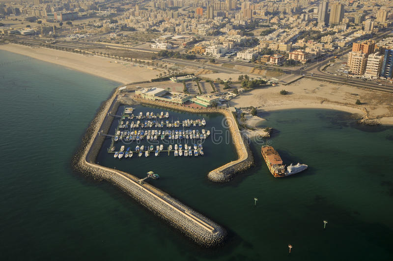 Kuwait do céu imagem de stock royalty free