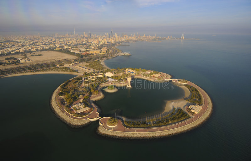 Kuwait do céu imagem de stock