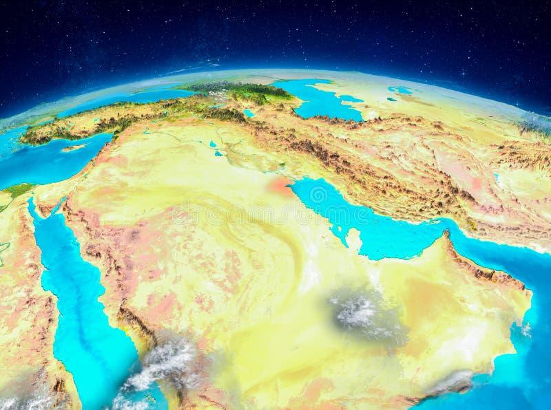 Kuwait en la tierra ilustración del vector