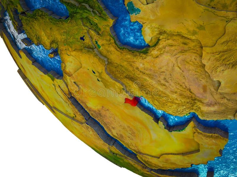 Kuwait en la tierra 3D libre illustration