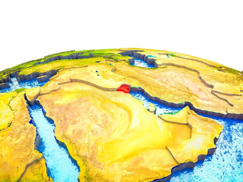Kuwait en la tierra 3D stock de ilustración