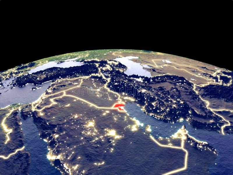 Kuwait en la tierra del espacio libre illustration