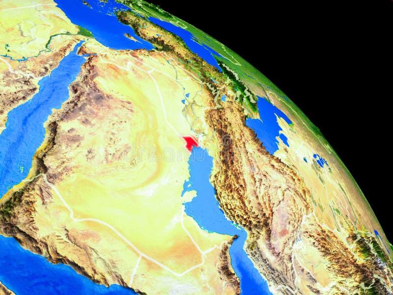 Kuwait en la tierra del planeta ilustración del vector