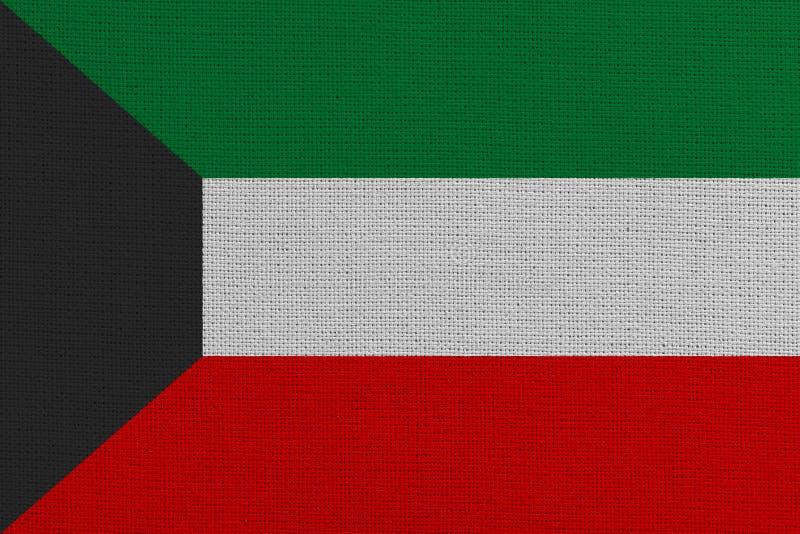 Kuwait fabric flag. Patriotic background. National flag of Kuwait stock image