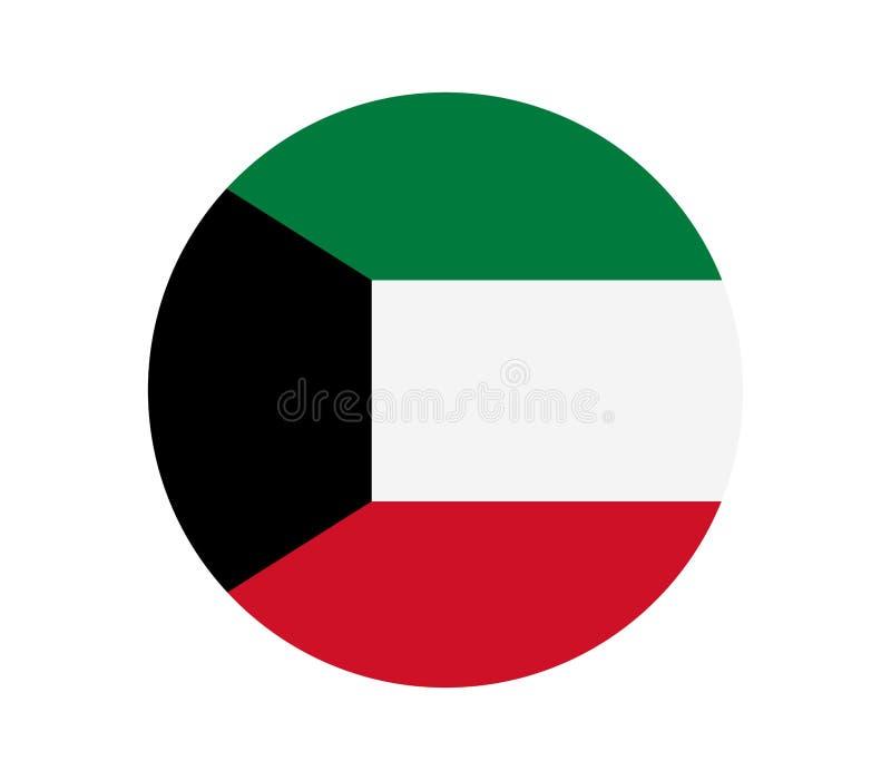 Kuwait flagga stock illustrationer