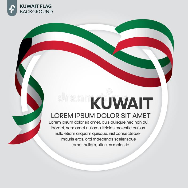 Kuwait flaggabakgrund royaltyfri illustrationer