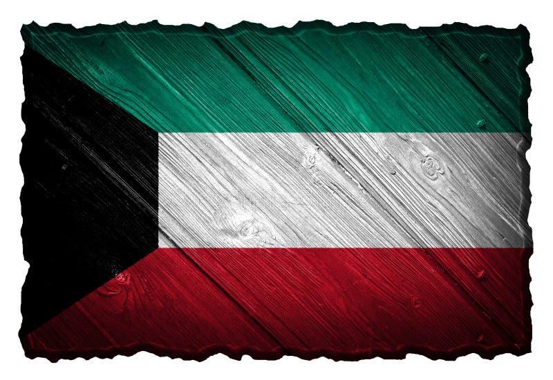 Kuwait-Flagge lizenzfreie stockfotografie