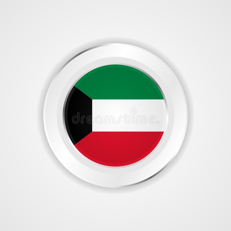 Kuwait-Flagge in der glatten Ikone lizenzfreie abbildung
