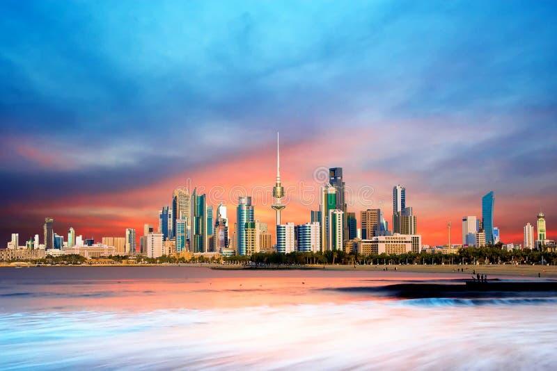 kuwait horisont stock illustrationer