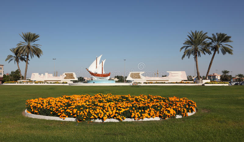 Kuwait karusell i den Sharjah staden fotografering för bildbyråer