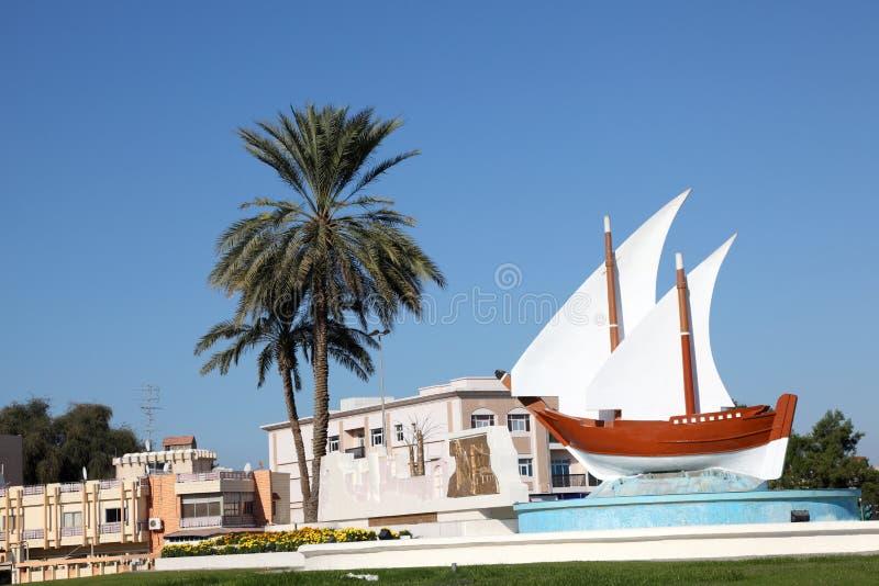 Kuwait karusell i Sharjah arkivbild