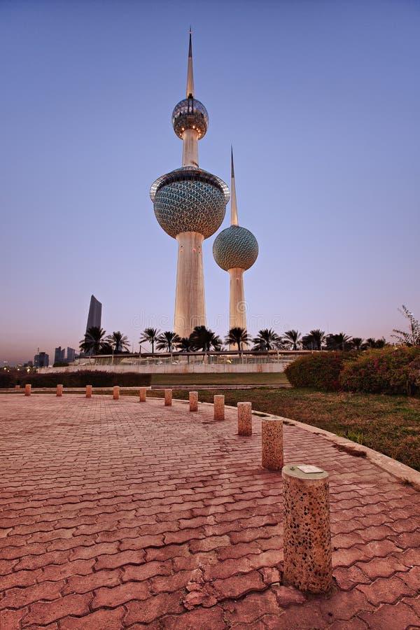 Kuwait-Kontrolltürme stockfoto