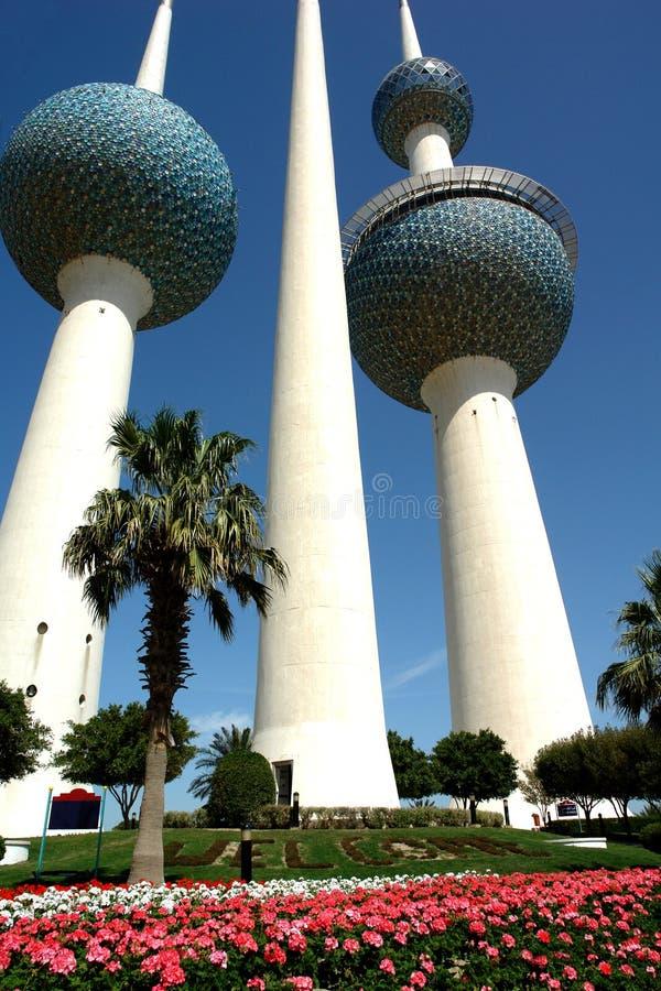 Kuwait-Kontrollturm lizenzfreie stockbilder