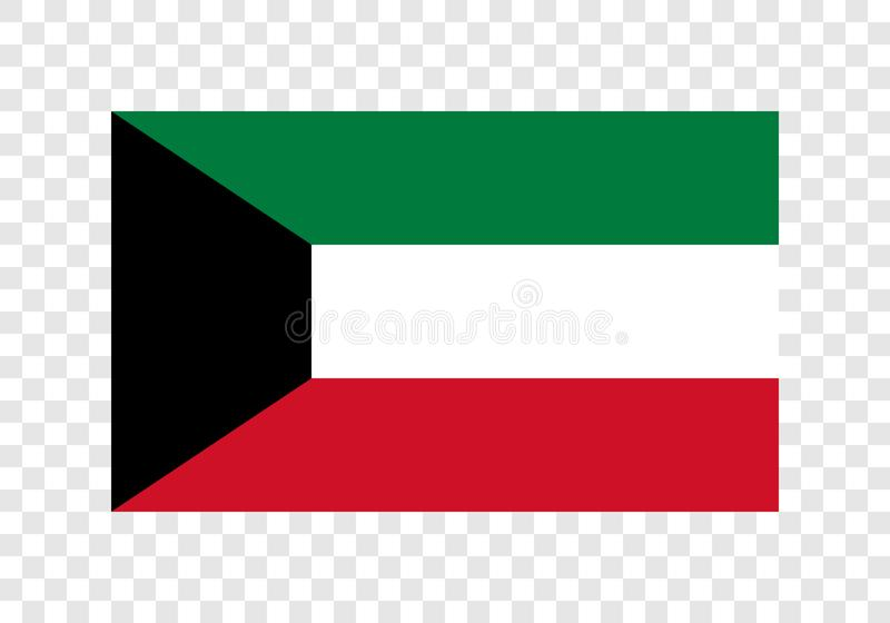 Kuwait - nationsflagga vektor illustrationer