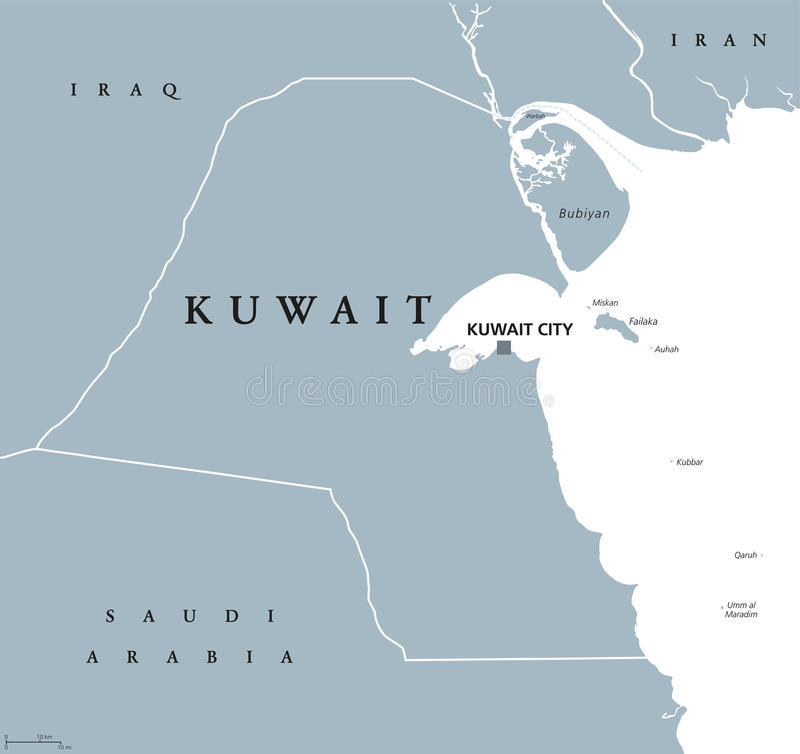 download kuwait political map stock vector illustration of city 95717849