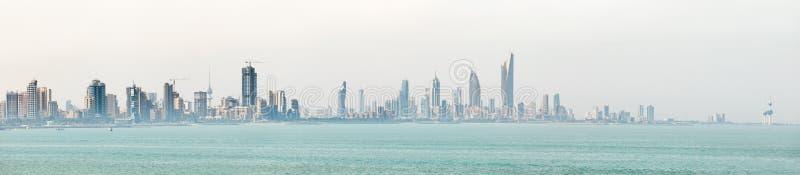 Kuwait`s coastline and skyline. KUWAIT CITY, KUWAIT - 19 Mar 2018: Kuwait`s coastline and skyline stock photo