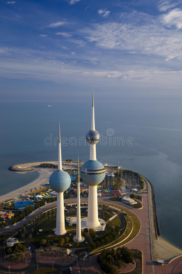 Kuwait from the Sky stock photos